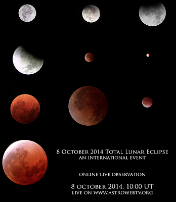http://www.virtualtelescope.eu/2014/09/26/8-october-2014-total-lunar-eclipse-live-event-online-2/